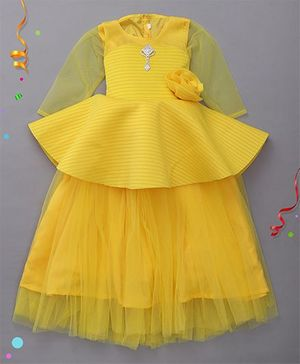 Babies Party Wear Gown - Gold