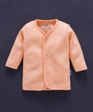 Child World Full Sleeves Vest - Light Orange
