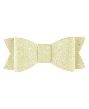 Baby Angel Glittery Bow Hair Clip - White
