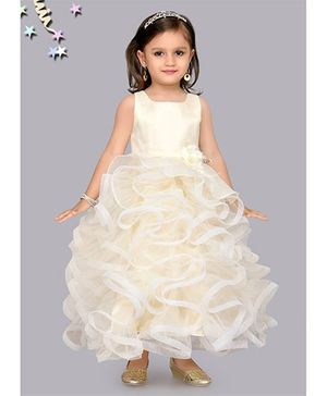 M'PRINCESS Stylish Gown - Cream