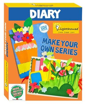 Lighthouse Make Your Own Diary DIY Kit - Multi Color