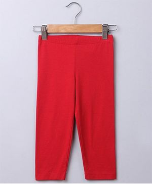 Beebay Plain Leggings - Red