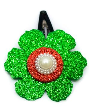 Carolz Jewelry Glitter Flower Single Tic Tac - Green