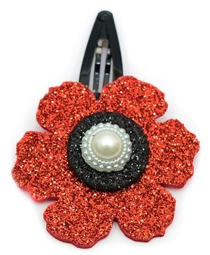 Carolz Jewelry Glitter Flower Single Tic Tac - Red