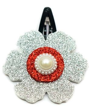 Carolz Jewelry Glitter Flower Single Tic Tac - White