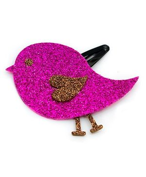 Carolz Jewelry Glitter Bird Single Tic Tac - Fuchsia Pink