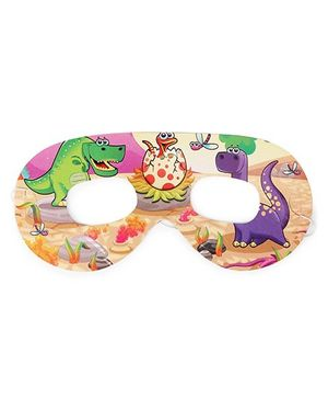 Karmallys Eye Masks Dinosaur Print Pack Of 10 - Multi Color