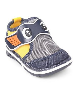 Cute Walk by Babyhug Shoes With Eyes Patch - Navy