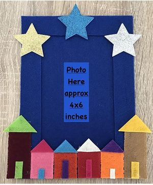 Kalacaree Home Sweet Home Theme Magnetic Photo Frame - Blue