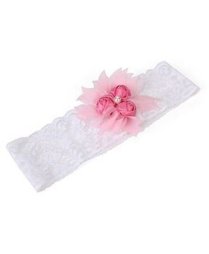 Funkrafts Flower Applique Headband - Pink