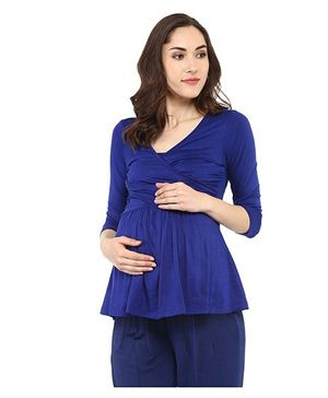 Mamacouture Mataernity Top -  Royal Blue