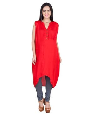 Blush 9 Sleeveless Maternity Nursing Tunic - Red