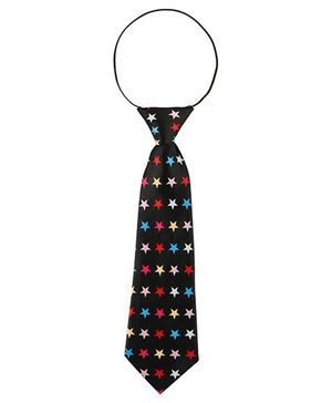 Baby Angel Star Print Tie - Black