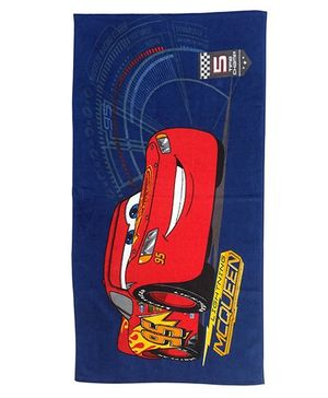 Disney Pixar Car Bath Towel - Blue & Red