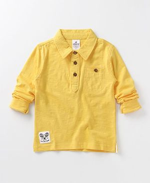 Ollypop Full Sleeves Solid Colour T-Shirt - Yellow