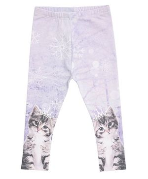 Mothercare Kitty Print Leggings - Light Purple