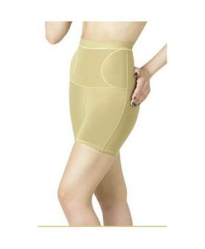 Aaram High Compression Instant Reshaping Body Shaper From Waist To Thigh - Beige
