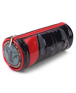 Disney Star Wars Round Pencil Pouch - Black Red