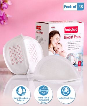 Babyhug 3D Contoured Disposable Breast Pads - Pack of 36