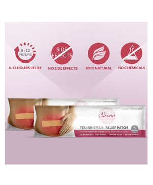 Sirona Feminine Pain Relief Patches Pack of 2 - 5 Patches Each