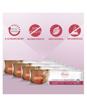 Sirona Feminine Pain Relief Patches Pack of 4 - 5 Patches Each