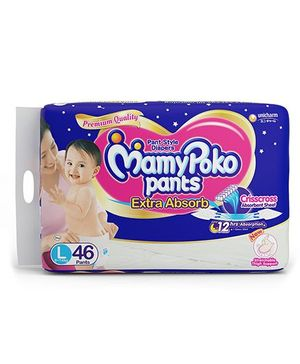 MamyPoko Extra Absorb Pant Style Diaper Large Size - 46 Pieces