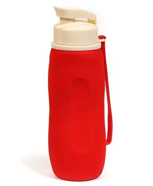 Baby Oodles Collapsible Silicon Sipper Water Bottles Red - 750 ml