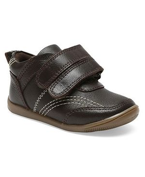 Teddy toes roadstar Shoes  - Brown (2 to 2.5 Years)