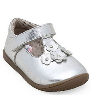 Teddy toes rose Balerina - Silver (2 to 2.5 Years)