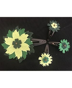 Kalacaree Go Green Theme Hair Clips Set Of 4 - Green