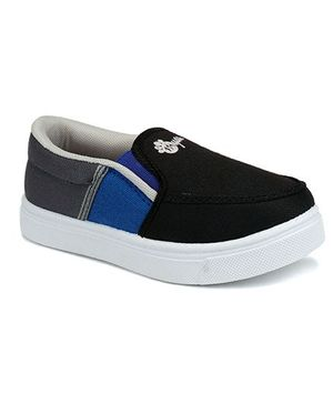 Myau Slip On Casual Loafers - Black Blue