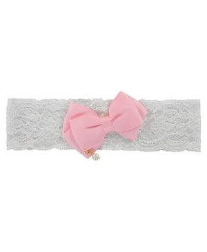 Funkrafts Ribbed Bow Wide Headband - Pink