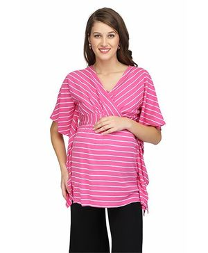 Preggear Nursing Top With Inner Feeding Layer - Pink