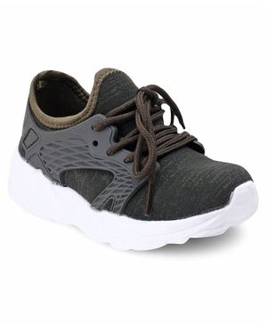 Cute Walk by Babyhug Lace Up Sports Shoes -  Olive Green