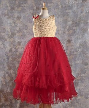 M'PRINCESS Sequence Work Party Wear Gown - Red
