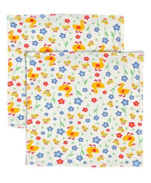 Yogis Baby Organic Face Napkins Pack of 2 - Multi Colour