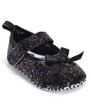 Kiwi Glitter Velcro Closure Bellies - Multicolor