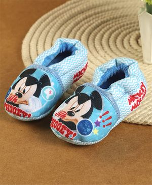 Mickey Mouse And Friends Printed Booties - Blue