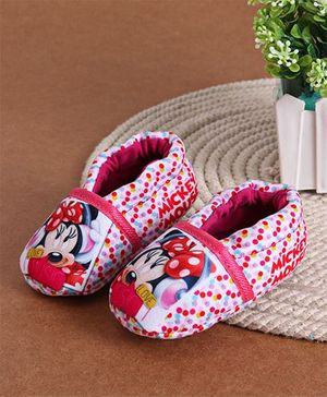 Mickey Mouse And Friends Minnie Mouse Printed Booties - Pink