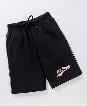 JusCubs All Star Print Casual Boys Shorts - Black