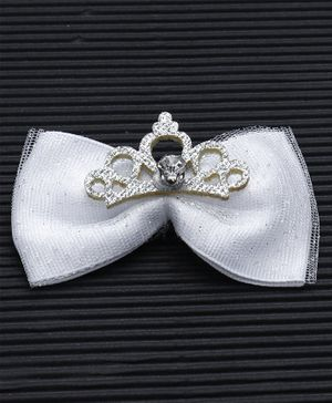 Babyhug Alligator Bow Applique Hair Clip - Grey