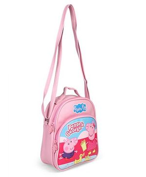 Peppa Pig Character Printed Shoulder Bag Pink - Height 8.6 Inches