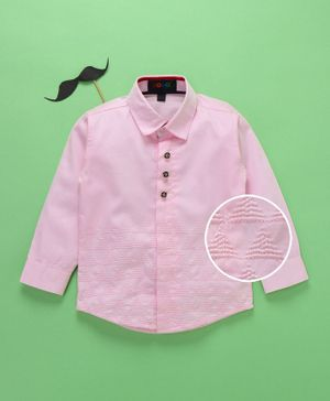Robo Fry Full Sleeves Shirt Triangle Embroidered - Light Pink