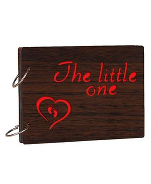 Studio Shubham The Little One Wooden Scrap Book - Dark Brown