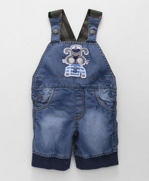 Little Kangaroos Denim Dungaree Bunny Patch - Light Blue