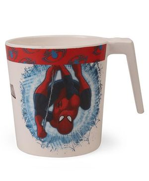 Marvel Coffee Mug Spider Man Print Off White Red - 320 ml