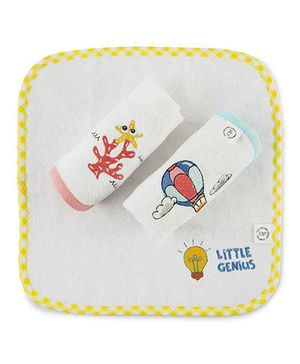 The Yellow Jersey Company Printed Face Towels Set of 3 - Multicolour