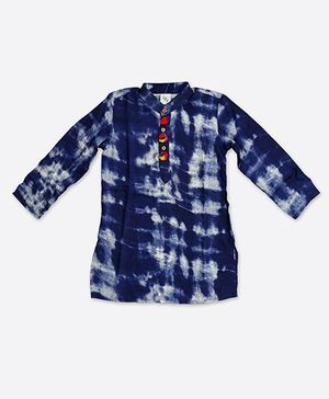 Little Pockets Store Printed Kurta - Blue