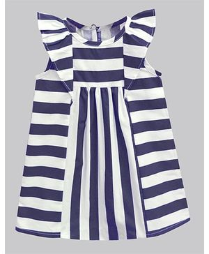 A.T.U.N Stripe Deborah Dress - Navy