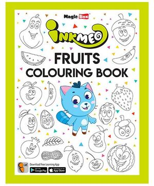 Inkmeo Fruits Colouring Book - English